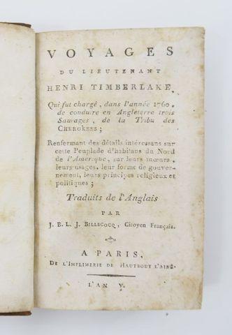 Amérique du Nord - TIMBERLAKE (Henry). Voyages du Lieutenant Henr...