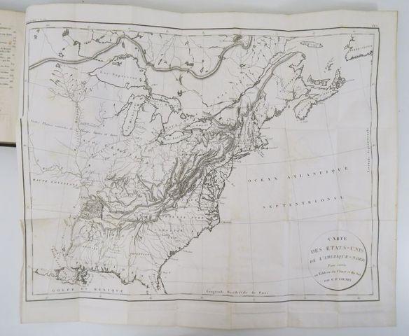 Amérique du Nord - VOLNEY (Constantin François, comte de). Tablea...