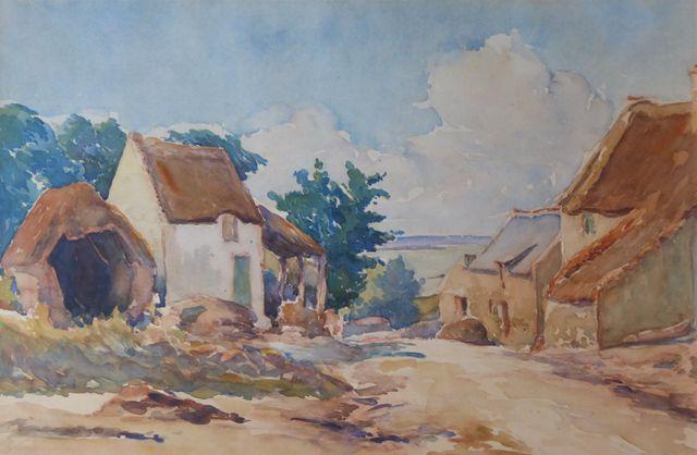 Gaston CHABERNAUD (1887-1962) Paysage Aquarelle sur papier signée...