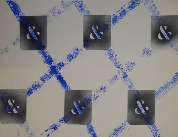 Jean MAZEAUFROID (1943-2001) Composition Suite de 4 acryliques et...