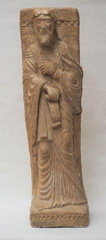 Sculpture en pierre reconstituée représentant Saint André H. 69 c...
