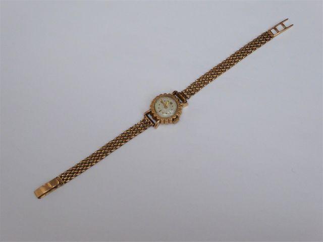 Montre bracelet or jaune Poids brut : 20 grs