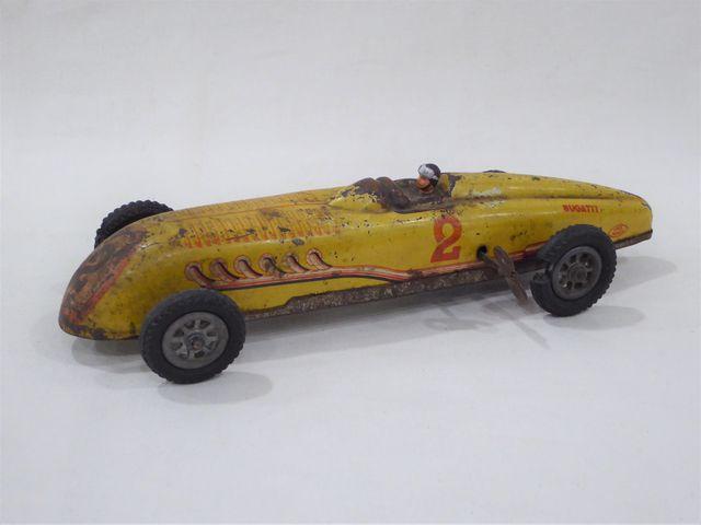 JEP UNIS France Voiture miniature Bugatti n°2 en tôle laquée, rem...