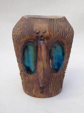 Poterie Colombe Vase en céramique de forme zoomorphe H. 11 cm