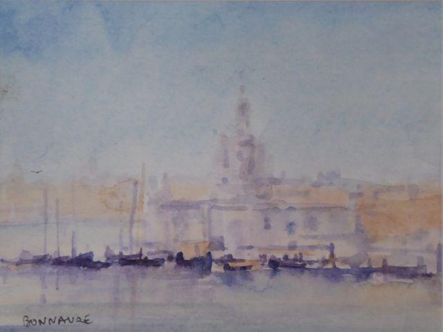 Alain BONNAURE (né en 1941) Venise Aquarelle sur papier, signée e...