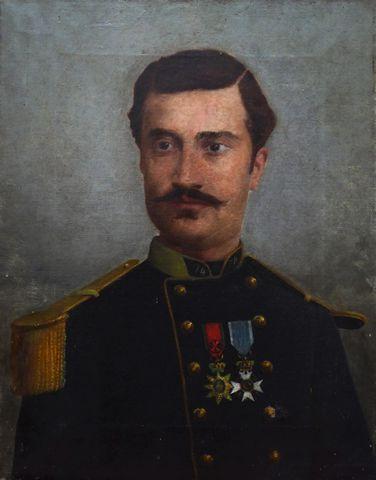 Ecole FRANCAISE XIXème siècle Portrait de Raoul De Pardailhan Hui...