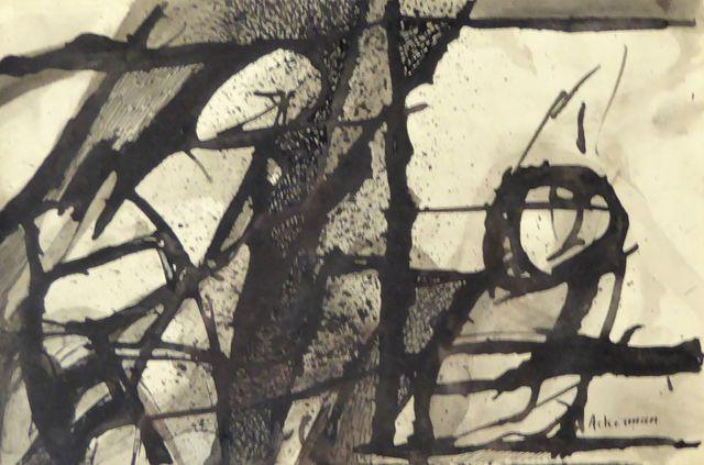 Paul AKERMANN (1908-1981) Personnages Encre de Chine sur papier, ...