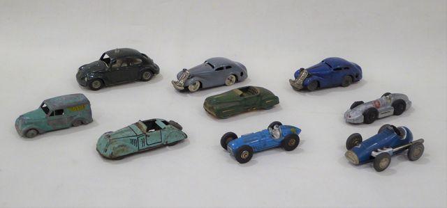 Lot de 9 véhicules miniatures dont CKO 403, SCHUCO Micro Racer, S...