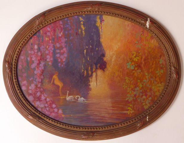 Jean-Louis PAGUENAUD (1876-1952) Nymphe sur fond de paysage Suite...