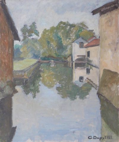 G. DUPYTOUT (XXème siècle) Paysage Huile sur toile signée en bas ...