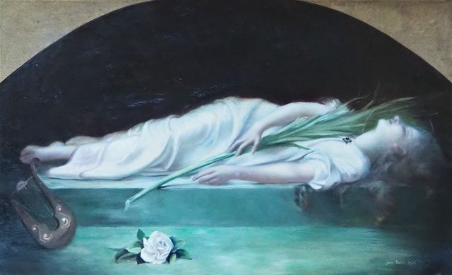 Jehanne BOURIQUET-MARFEUIL (active 1908-1912) La Mort de sainte C...