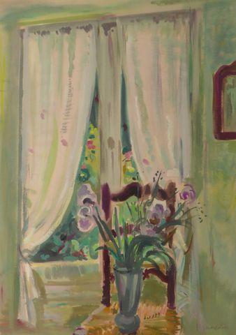 Robert FRANCOLIN (1899-1974) Nature morte au bouquet de fleurs Go...