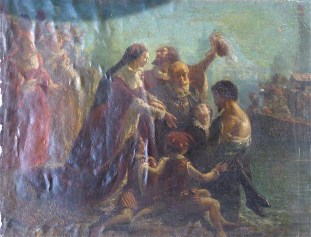 Ecole ITALIENNE du XVIIIème siècle ? Huile sur toile 60 x 81 cm (...