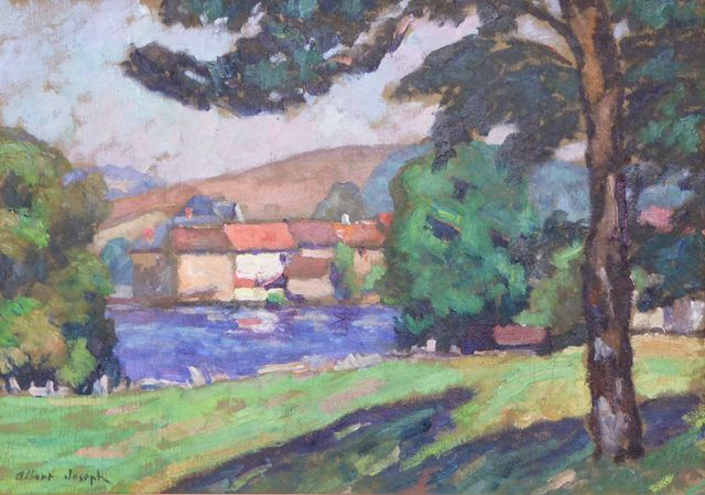 Albert JOSEPH (1868-1952) Bords de rivière Huile sur toile signée...