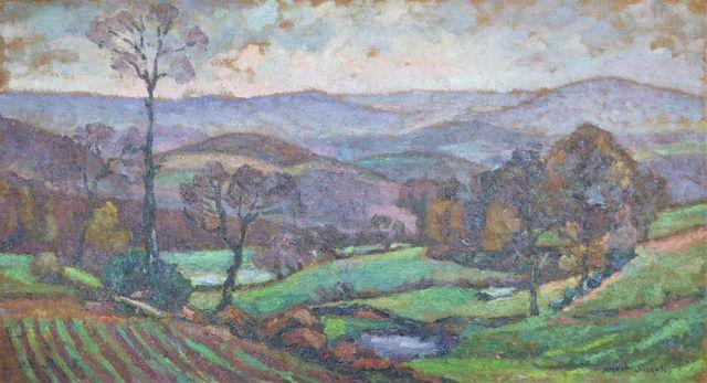 Albert JOSEPH (1868-1952) Paysage vallonné Huile sur toile signé ...