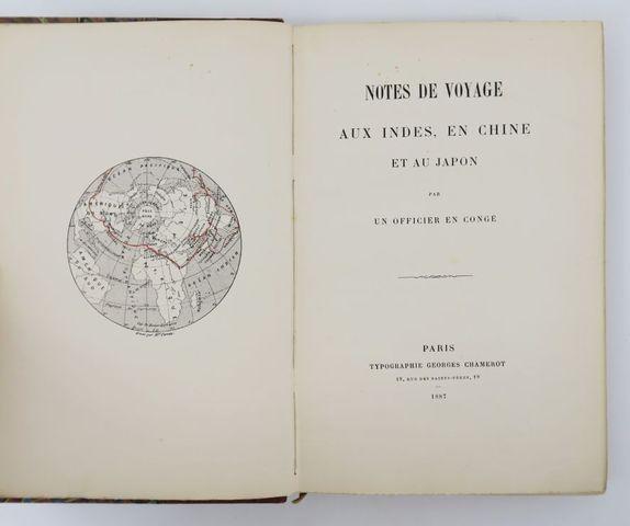 Asie - [CHAMBRY (G.)]. Notes de voyage aux Indes, en Chine et au ...