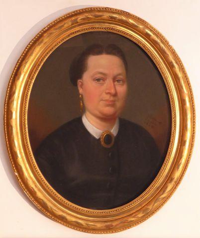 Ecole FRANÇAISE du XIXème siècle signée Billion PINXIT Portraits ...