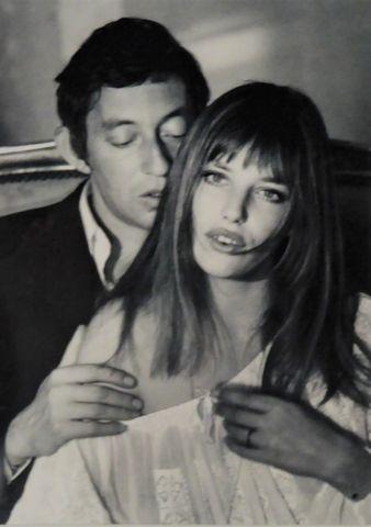 Yves DARGENT (XXe) Gainsbourg et Birkin Photo argentique original...