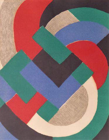 Sonia DELAUNAY (1885-1979) Composition Lithographie originale en ...