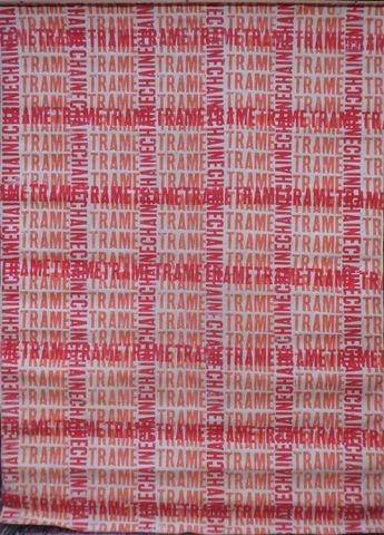 Jean MAZEAUFROID (1943-2001) Chaîne et Trame Pochoir à l'acryliqu...
