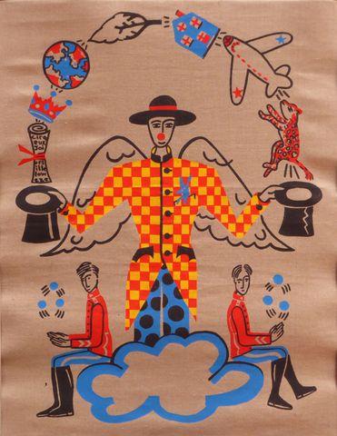 Jean-Charles DE CASTELBAJAC (1949) Le cirque 1989 Acrylique sur t...