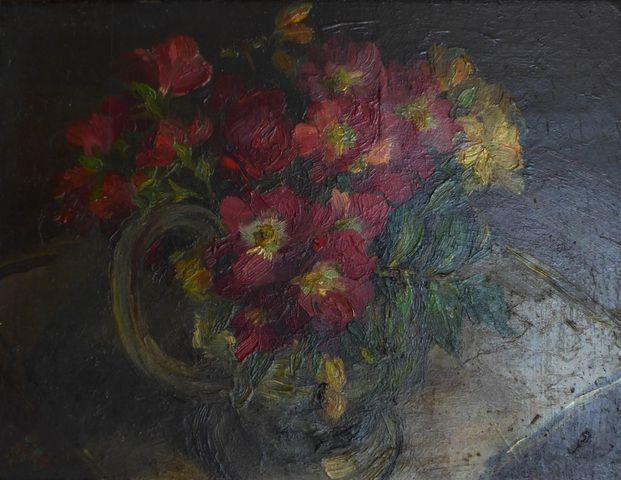 Henri Hayden (1883-1970) Bouquet de fleurs Huile sur panneau, sig...