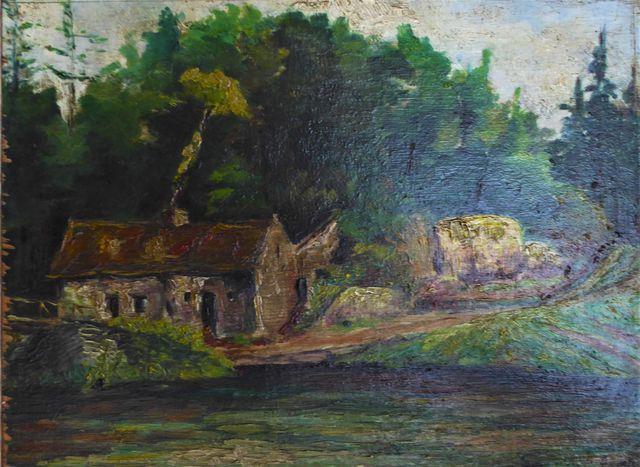 Georges DE POGEDAIEFF (1897-1971) La maison de campagne Huile sur...