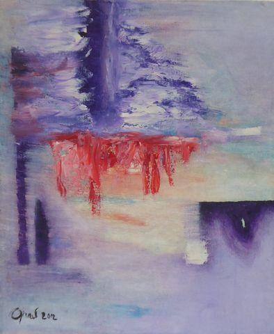 Elisabeth GIRARD (1932-2005) Abstraction Huile sur toile signée e...