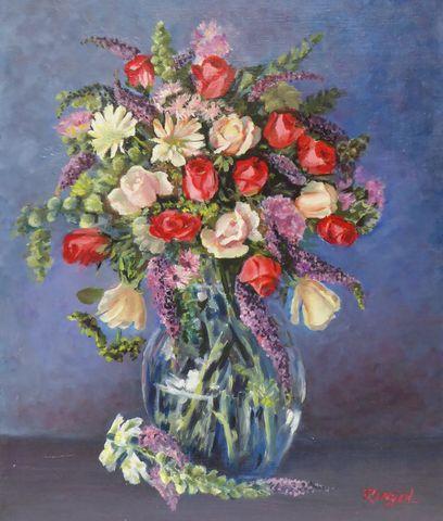 RINGOT (XXème siècle) Nature morte aux fleurs Huile sur toile sig...