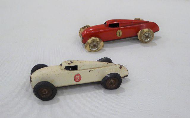 LEHMANN Allemagne 1937 - deux voitures Gnom Auto-Union en tôle - ...