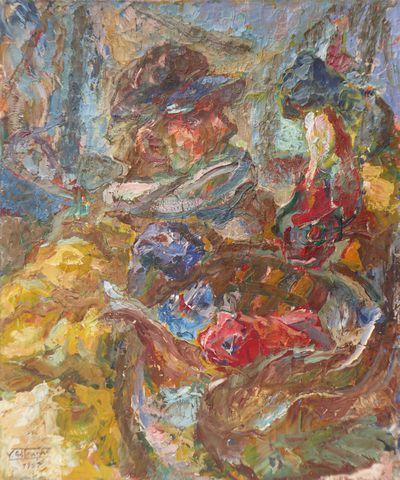 Vicente GIL FRANCO (1898-1959) Portrait de marin Huile sur toile ...