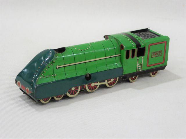 GASPARD et GAUBIER (Paris 1950) - petite locomotive en tôle litho...