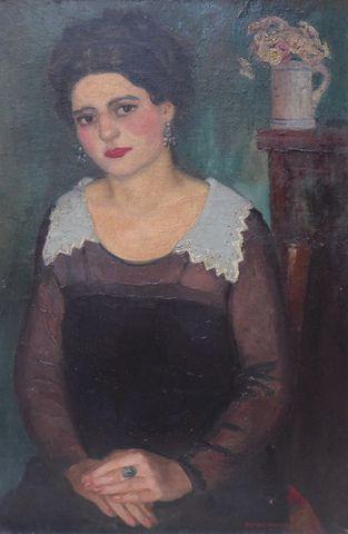 Pierre WAGNER (1897-1943) Portrait de femme Huile sur toile SBD 8...