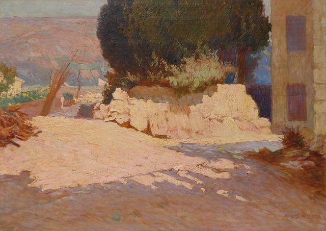 Régis DEYGAS (1876-1943) Paysage des environs de Nice Huile sur p...