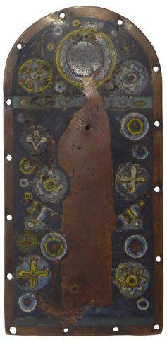 LIMOGES 2nde moitié du XIIIe siècle Plaque de châsse reliquaire e...