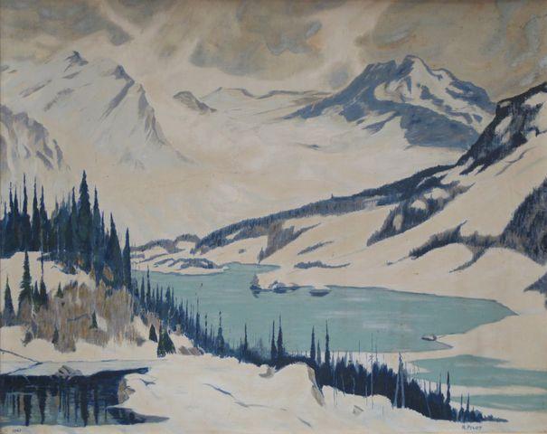 Robert PILOT (1898-1967) d'après Vue de Lac au Canada Procédé de ...
