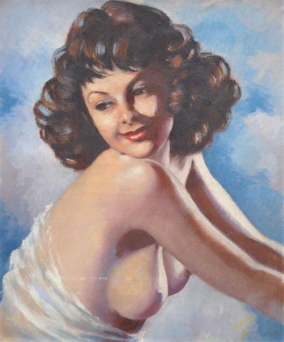 G. ARLOIS (XXème siècle) Portrait de femme Huile sur toile signée...