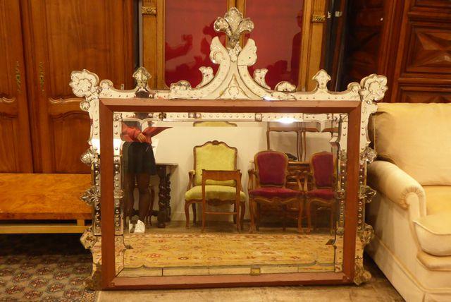 MURANO Miroir H. 143 cm  L. 157 cm (Accidents)
