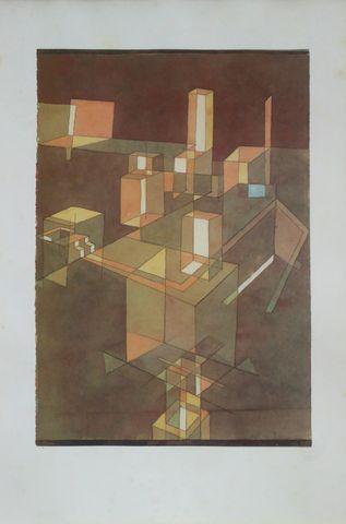 Paul Klee (1879-1940) (d'après) Composition cubiste D'après une o...