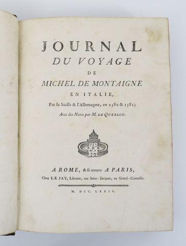 MONTAIGNE (Michel Eyquem de). Journal de voyage de Michel de Mont...