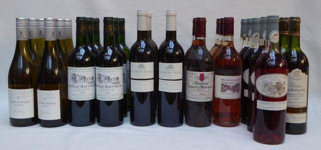 Lot de 54 bouteilles de vin comprenant : - COS DE LA ROQUE Gros M...
