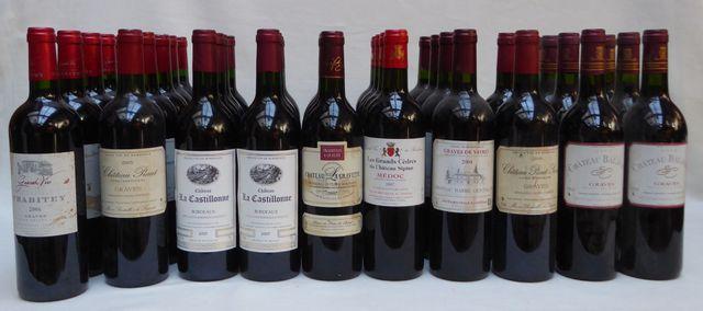 Lot de 54 bouteilles de vin comprenant : - Château CRABITEY Grave...