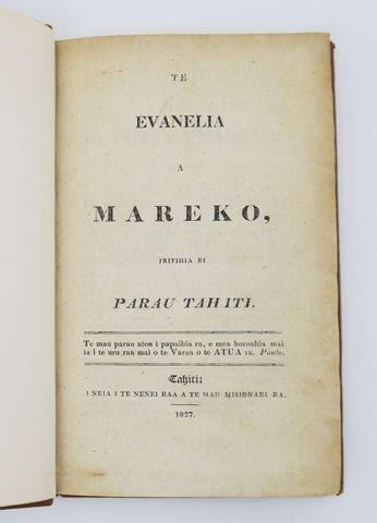 Océanie. Te Evanelia a Mareko, iritihia ei parau Tahiti. Tahiti, ...