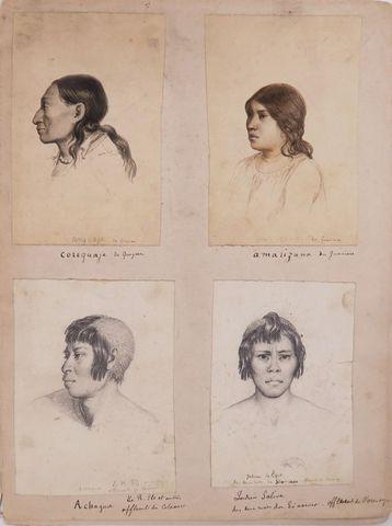 ROULIN (François Désiré). Portraits de types sud-américains et ét...