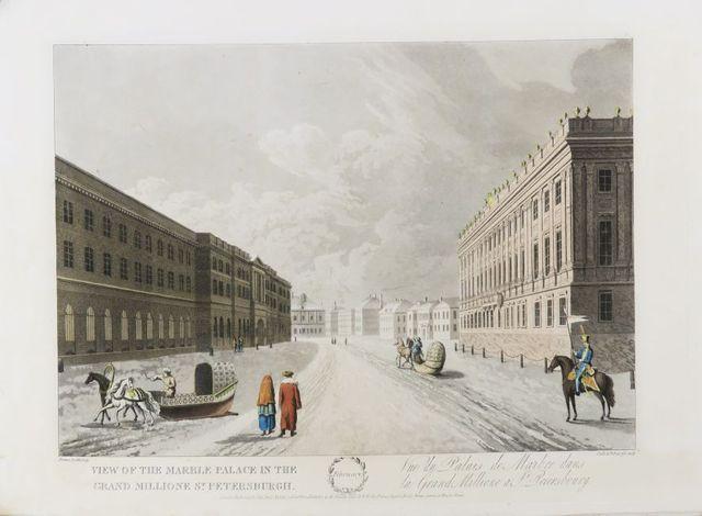 Russie - MORNAY. [Vues de Saint Pétersbourg]. London, Edward Orme...