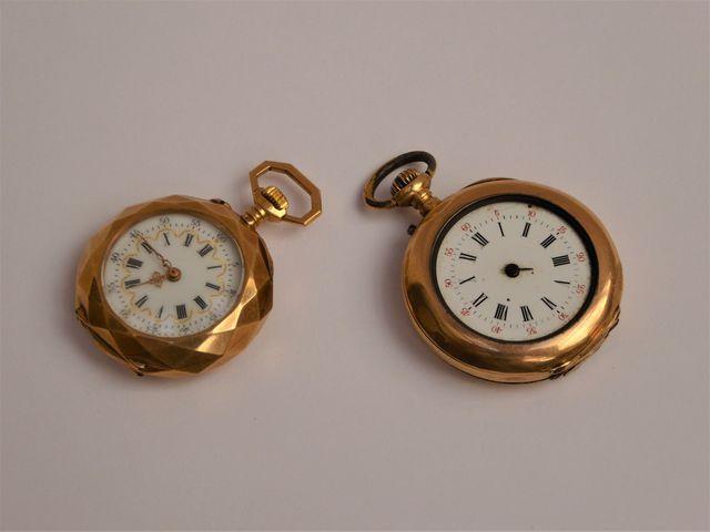 Lot de deux montres gousset or jaune Pds brut 47 grs