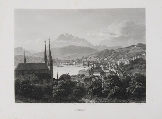 [Suisse]. Souvenir du lac des quatre cantons. Bâle, Chr. Krüsi, [...