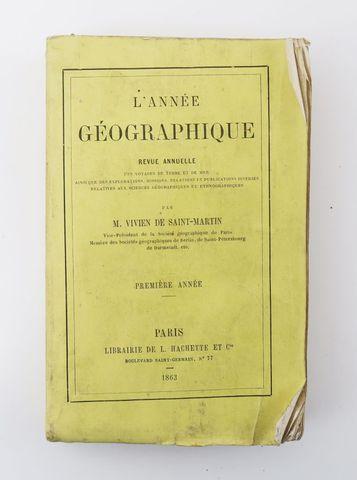 VIVIEN de SAINT-MARTIN (Louis). L'Année géographique. Revue annue...