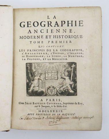 [AUDIFFRET (Jean-Baptiste d')]. La Géographie ancienne, moderne e...