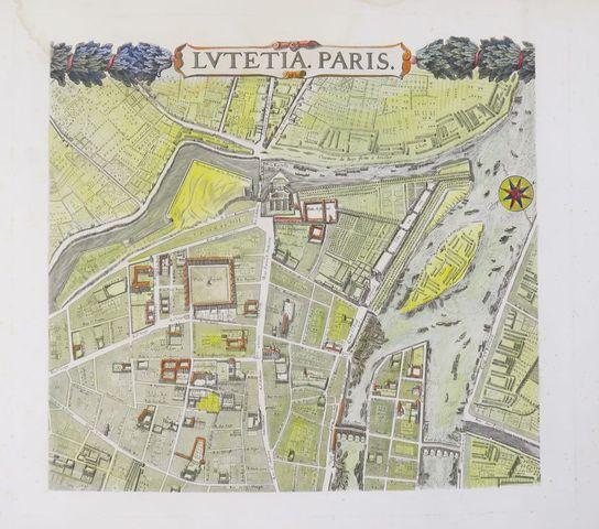 GOMBOUST (Jacques). Plan de Paris. Paris, Société des Bibliophile...